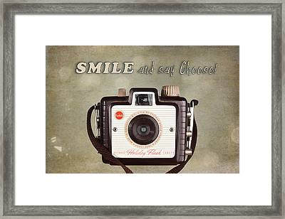 Smile And Say Cheese Framed Print by Tom Mc Nemar