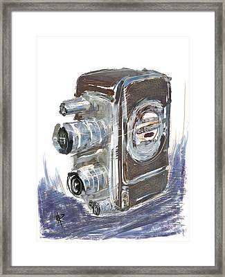 Smile And Wave Framed Print by Russell Pierce