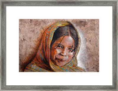 Smile Framed Print by Jose Espinoza