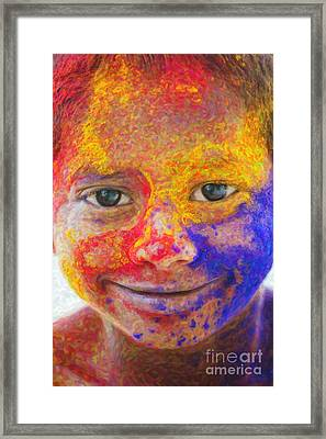 Smile Your Amazing Framed Print by Tim Gainey