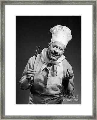 Smiling Chef, C.1950s Framed Print by Debrocke/ClassicStock