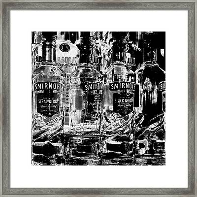 Smirnoff Vodka Framed Print by David Patterson
