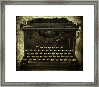 Smith And Corona Typewriter Framed Print by Cindi Ressler