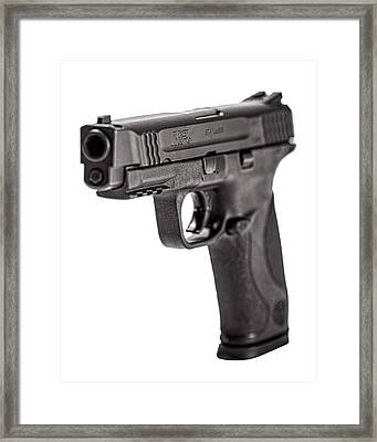 Smith And Wesson Handgun Framed Print by Andy Crawford