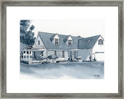 Smith House Framed Print by Marsha Elliott