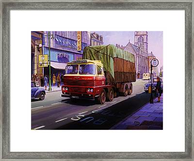 Smith's Scammell Routeman II Framed Print by Mike  Jeffries