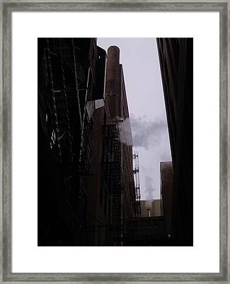 Smoke And Steam I Framed Print by Anna Villarreal Garbis