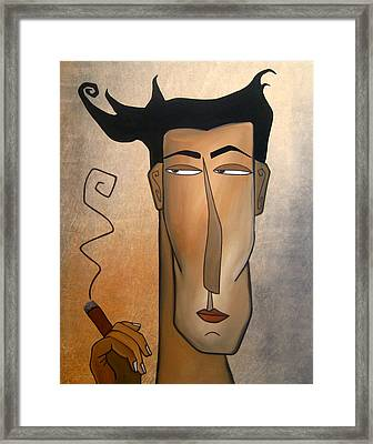 Smoke Break Framed Print by Tom Fedro - Fidostudio