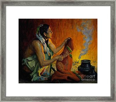 Smoke Ceremony Framed Print by Celestial Images