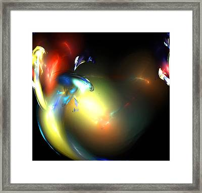 Smoke Dance Framed Print by Brainwave Pictures
