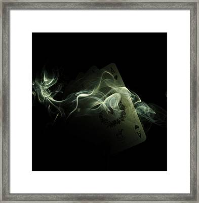 Smoke Framed Print by Ivan Vukelic