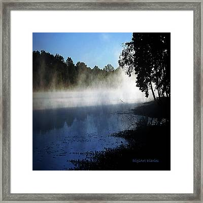 Smoke On The Water Framed Print by DigiArt Diaries by Vicky B Fuller