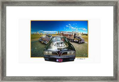 Smokey And The Bandit Framed Print by CoolnessSixtyEightArt