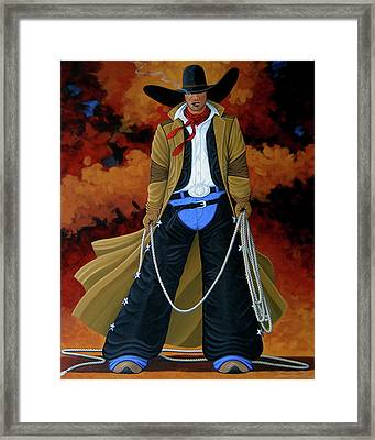 Smokey Framed Print by Lance Headlee