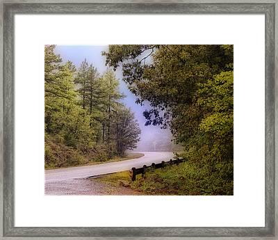 Smokey Mountain Road Framed Print by Shirley Dawson