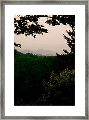 Smokey Mountains At New Found Gap Framed Print by Kimberly Camacho