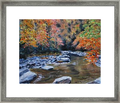 Smokey Mountains Autumn Framed Print by Stanton D Allaben