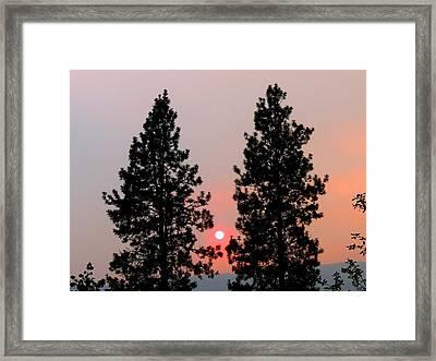 Smokey Okanagan Sunset Framed Print by Will Borden