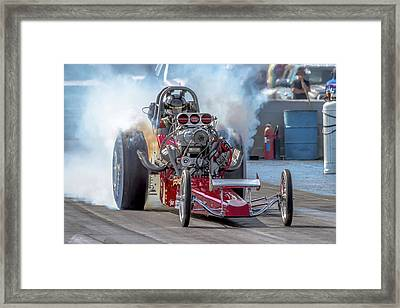 Smokin' Tires Framed Print by Bill Gallagher