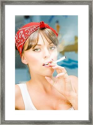 Smoking Framed Print by Jorgo Photography - Wall Art Gallery
