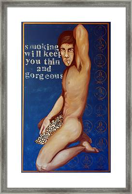 Smoking Will Keep You Thin And Gorgeous Framed Print by Matthew Lake