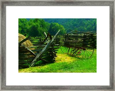 Smoky Mountain Farm 1900s Framed Print by Chris Flees