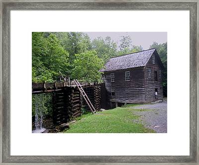 Smoky Mountain Mill Framed Print by CGHepburn Scenic Photos