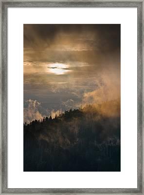 Smoky Mountain Framed Print by Steve Gadomski