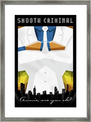 Smooth Criminal Framed Print by Atelier Seneca