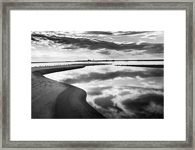 Smooth Water Reflections Bw Framed Print by Bill Wakeley