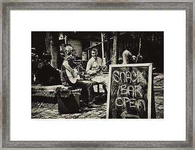Snack Bar Open Framed Print by Bill Cannon
