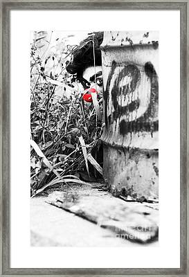 Sneaky The Clown Framed Print by Jorgo Photography - Wall Art Gallery