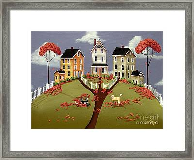 Snicker And Doodle Framed Print by Catherine Holman