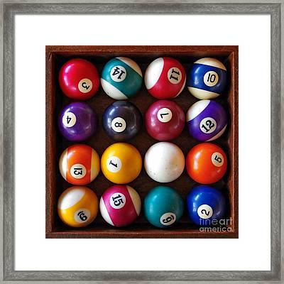 Snooker Balls Framed Print by Carlos Caetano