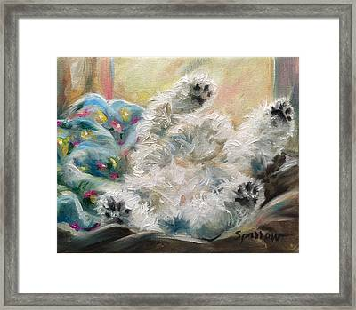 Snoozing Framed Print by Mary Sparrow