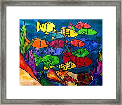 Snorkeling Off Norman Island Framed Print by Patti Schermerhorn