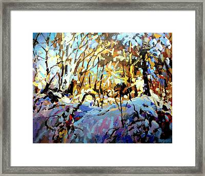 Snow Bank Framed Print by Brian Simons