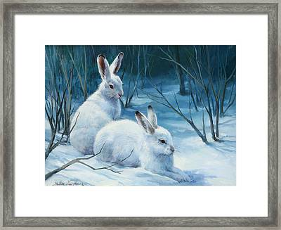 Winter Blues Framed Print by Laurie Hein