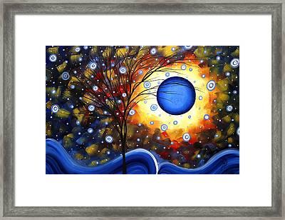Snow Burst Cirlce Of Life Painting Madart Framed Print by Megan Duncanson