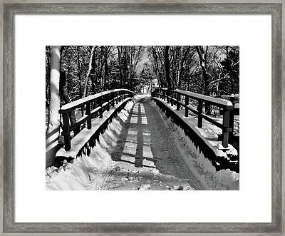 Snow Covered Bridge Framed Print by Daniel Carvalho