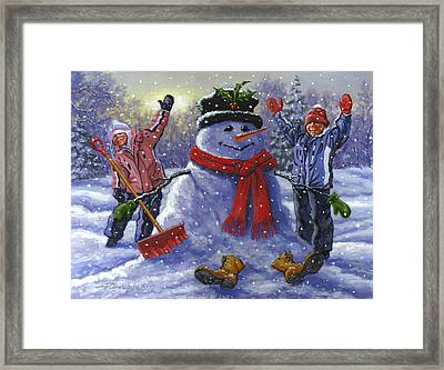Snow Day Framed Print by Richard De Wolfe