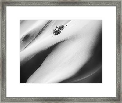 Snow Drift Framed Print by Joseph Smith