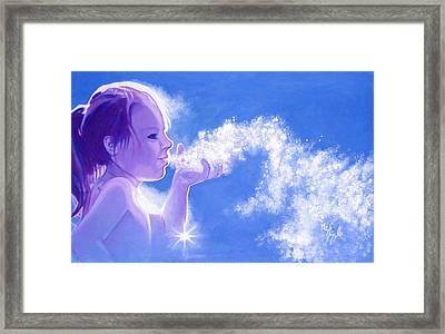 Snow Fairy  Framed Print by Neil Feigeles