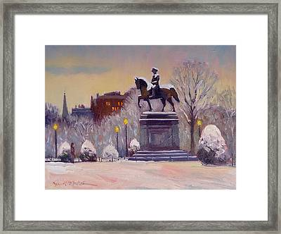 Snow Glow Framed Print by Dianne Panarelli Miller
