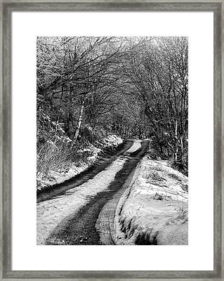 Snow In Rawtenstall Woods Framed Print by Philip Openshaw