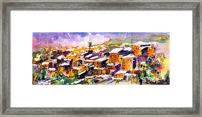 Snow In The South Of France Framed Print by Ginette Callaway