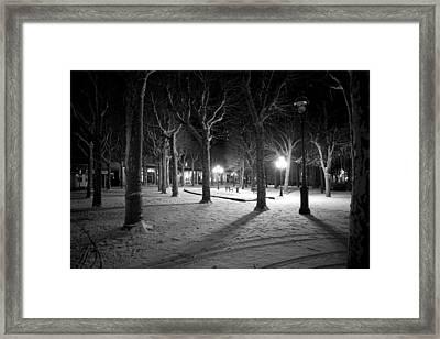 Snow In Vichy Central Park Framed Print by Alexander Davydov
