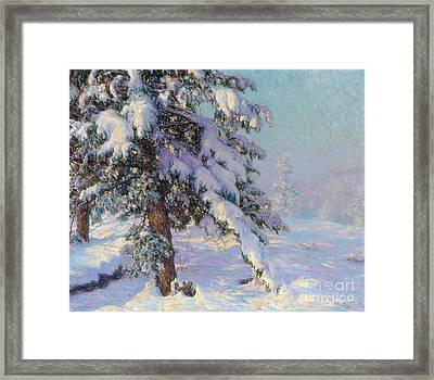 Snow-laden Framed Print by Walter Launt Palmer