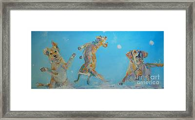 Snow Much Fun Framed Print by Kimberly Santini