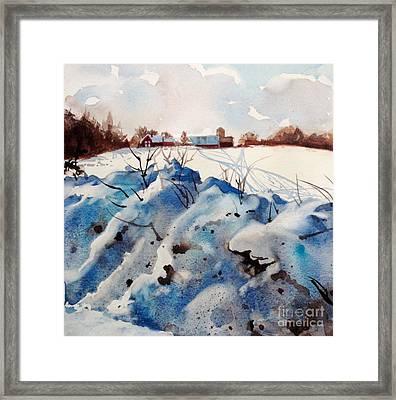Snow On Southwick I Framed Print by Elizabeth Carr